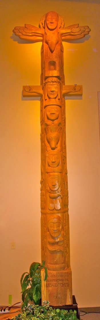 Close Up of the Easter Totem Pole