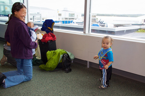 Eskimo Family Leaving Anchorage for Nome