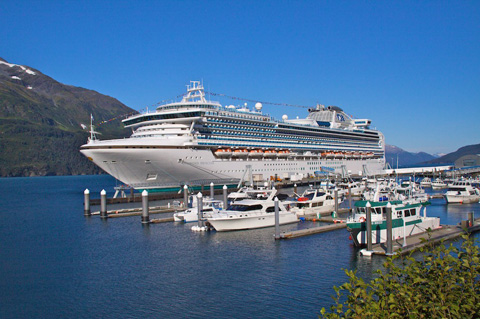 The Princess Diamond Was in Port