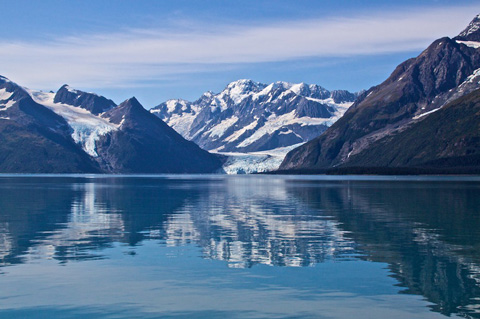 Two Glaciers Reflected in Prince William Sound
