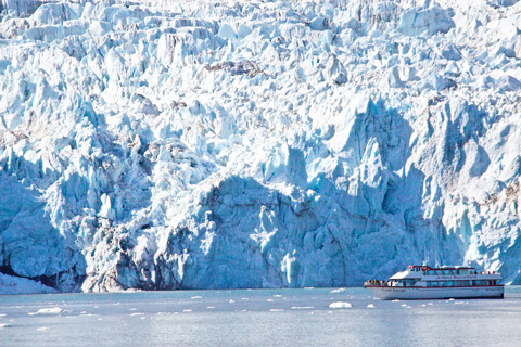 Surprise Glacier is a Tidewater Glacier One-Fourth of a Mile Wide