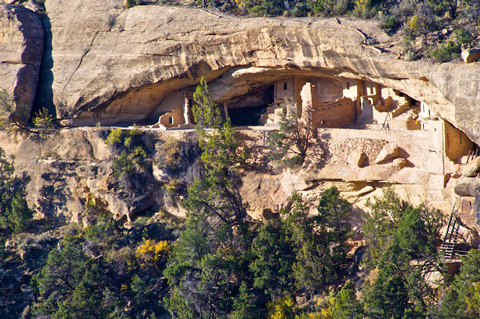 The View of Balcony House from Across the Canyon