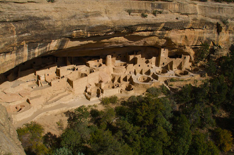 Overview of Cliff Palace, the Largest Cliff Dwelling in the World