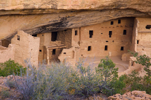 Close Up of Spruce Tree House, Including One Kiva