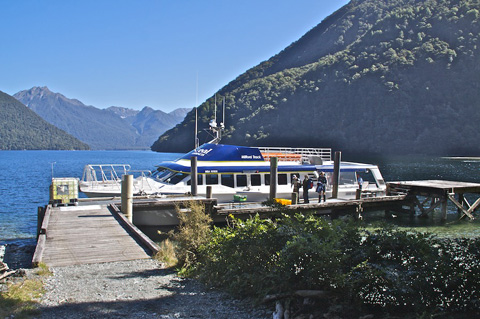 The Vessel that Took our Party of 40 to the Start of Milford Track