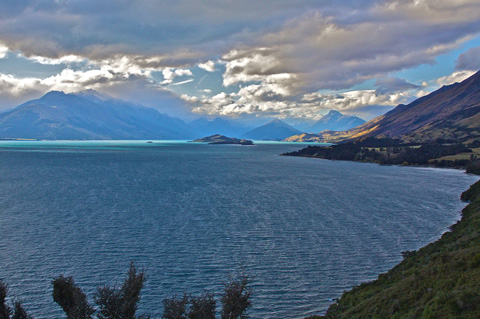 Lake Wakatipu on the Road Between Queenstown and Glenorchy