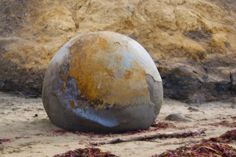 This Boulder Looks Like a Big Globe to Me