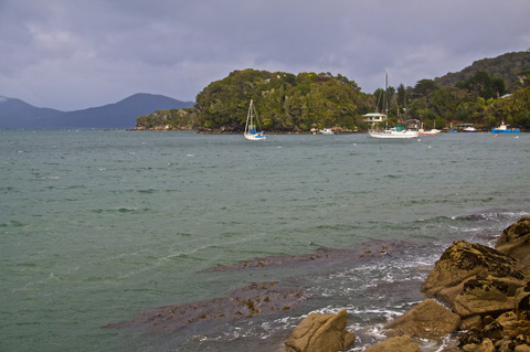 The Stewart Island Harbor at Oban