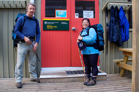Steve and Christine Set Off for Their Third Day on the Milford Track