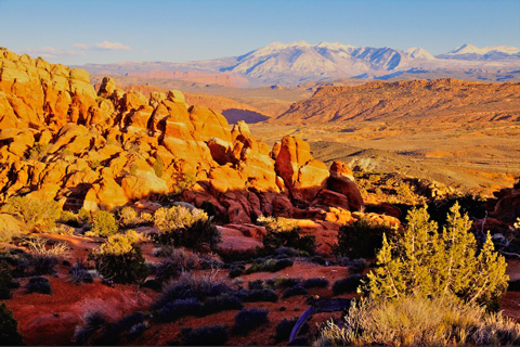 Fiery Furnace and the La Sal Mountains