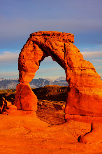 A Vertical View of Delicate Arch