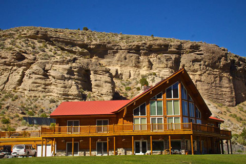 The Lodge Sits Below the Canyon Wall