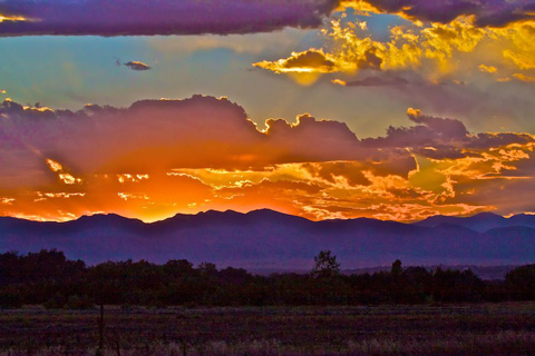 Sunset at Rocky Mountain Arsenal National Wildlife Reserve