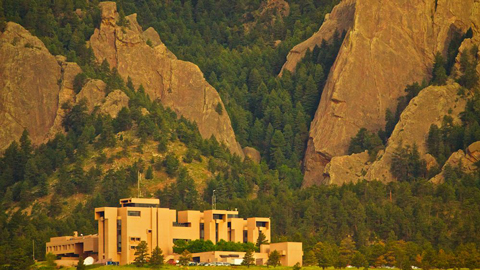 NCAR's Mesa Laboratory from My Apartment Three Months Ago