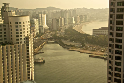 The View from My Hotel Room of Korea's Most Popular Beach, Haeundae