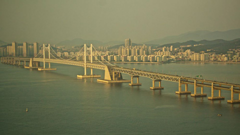 This Suspension Bridge in Busan, the Gwangan, Spans 4.6 Miles