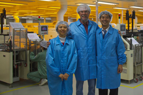 Touring the i-SENS Strip Factory with Margaret and Dr. Cha