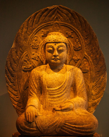 Healing Buddha in Stone from the 8th Century