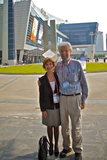 Dr. Jennie Brand-Miller and I Meet in Busan (photo by Dr. Robert Moses)