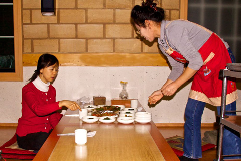 Service in a Traditional Korean Restaurant
