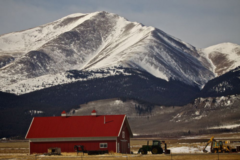Barn and Mountain