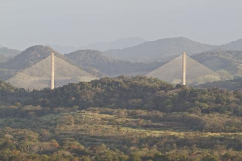 Centennial Bridge over the Panama Canal from the Tower