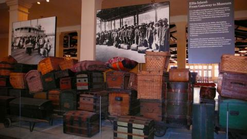 The Baggage Room at Ellis Island