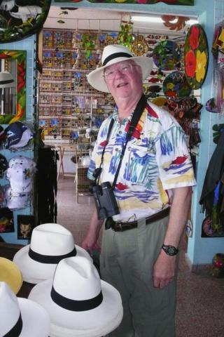 Bob Bought a Panama Hat as His Souvenir 