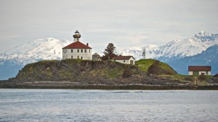 Eldred Rock Lighthouse Stands Guard over the Fjord