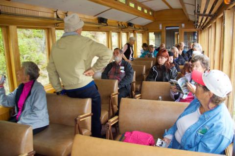 "Our Tour Group in Car 222, the ""Lake Lindeman"""