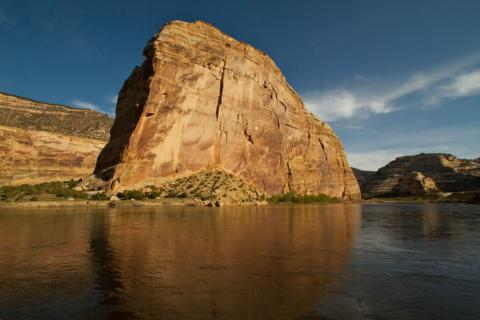 Steamboat Rock on the Great Green River