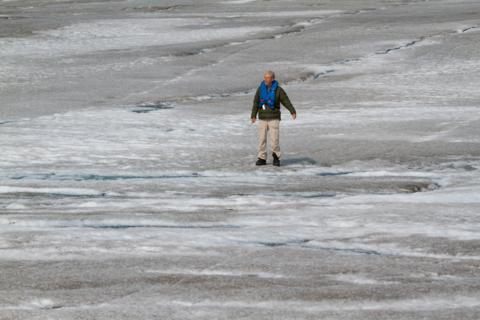 Apparently Alone on the Glacier