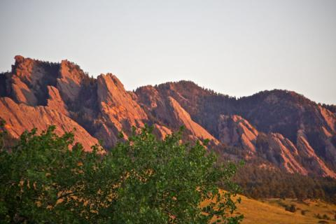 Alpenglow on the Flatirons
