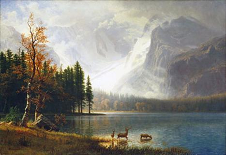 The Way Albert Bierstadt Saw Bierstadt Lake