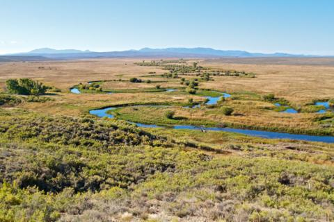 The Illinois River Meanders Through Arapaho National Wildlife Refuge