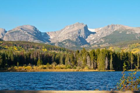 Hallet Peak and the Rockies from Sprague Lake