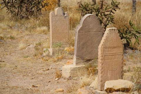 Gravestones at the Dolores Mission