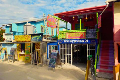 The Caribbean Colors of Caye Caulker are Bright