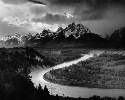 The Teton Range and the Snake River -- the Justly Famous Photo by Ansel Adams