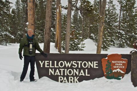 Entering Yellowstone (Photo by Ned Marsh with my Canon 50D)