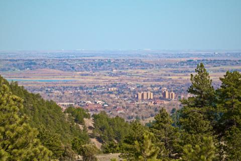 Looking down on Boulder from Betasso Preserve