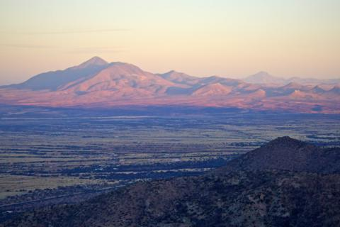 Sulphur Springs Valley and the Chiricahua Mountains