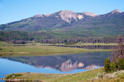 Sand Mountain Rises Above Steamboat Lake