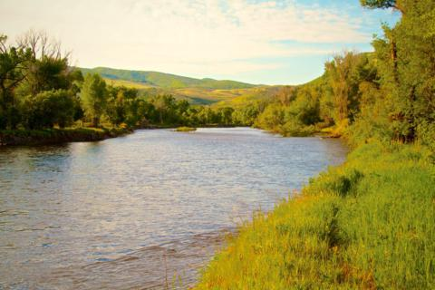 The Yampa River Borders the Yampa River Preserve
