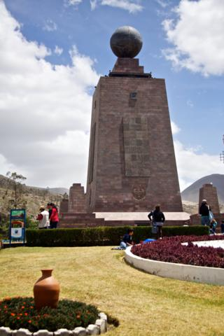 The Mitad del Mundo Purports to Mark the Equator after which Ecuador Takes its Name (Canon 50D with 18-200mm lens at 35mm, f/8, 1/3200, ISO 400)