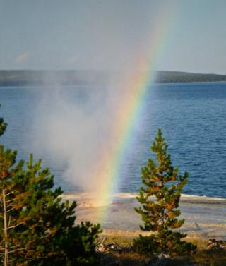One of Yellowstone's 4,000 Fumaroles Produces a Rainbow (Panasonic DMC-TS3 at f/5.8, 1/1300, ISO 400)