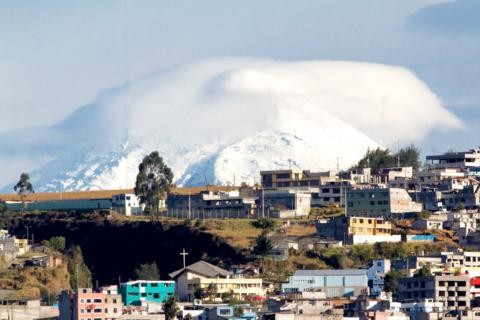 Cotopaxi Volcano Was Clearly Visible on Quito's Skyline Just 17 Miles South of the City (Canon 7D with 100-400mm lens at 390mm, f/16, 1/500, ISO 800)