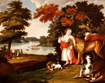 """The Peaceable Kingdom,"" 1822-1825, by Edward Hicks (1780-1849) (Canon 7D with 50mm lens, f/1.8, 1/500, ISO 1600)"