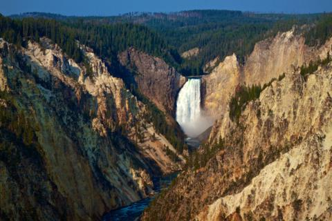 The Lower Falls of the Yellowstone (Canon 7D with 50mm lens, f/8, 1/350, ISO 100)