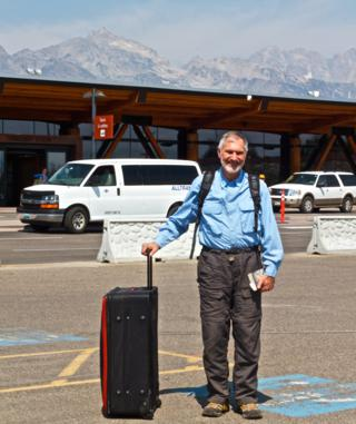 Mark Is Ready to Fly Out of the Jackson Hole Airport (Canon 7D with 50mm lens, f/16, 1/125, ISO 200)